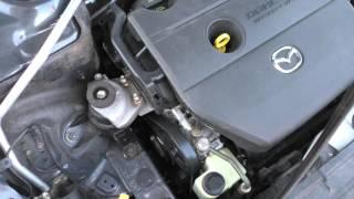Mazda 6 Работа мотора после замены роликов