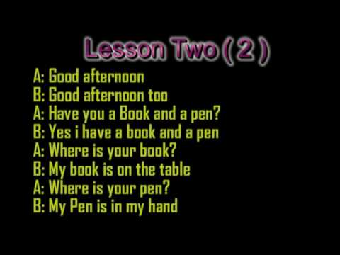 Lesson Two English to somali Convesrsation