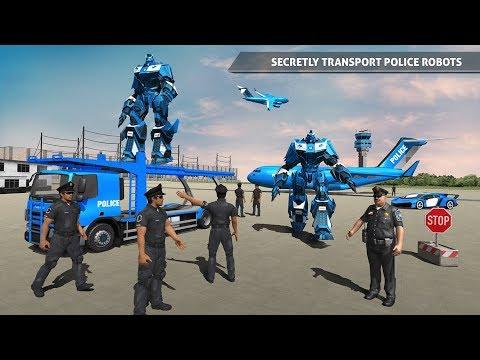 Polis Robotu Araba Oyunu Polis Uçak Taşımacılığı Google Playde