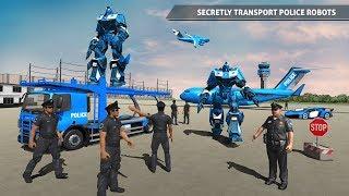 Police Robot Car Game – Police Plane Transport (by Mizo Studio)