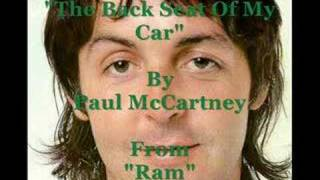 Video The back seat of my car Paul Mccartney