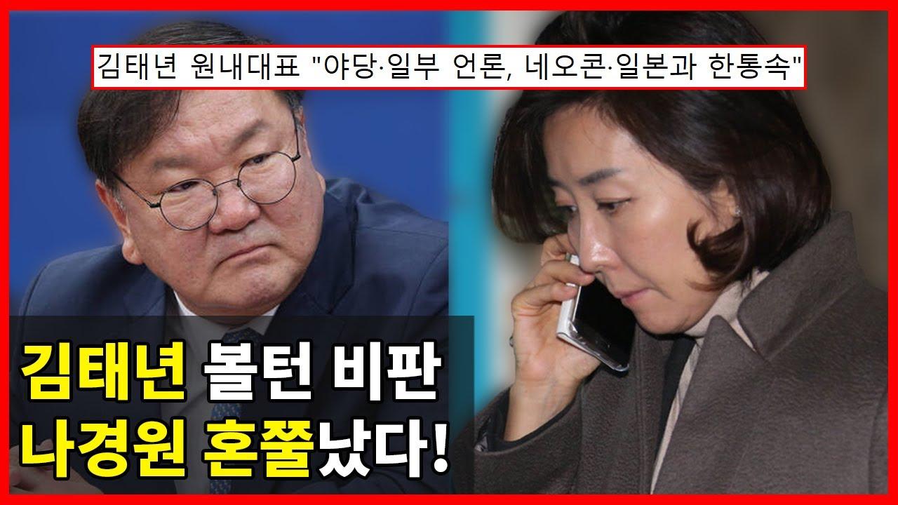 """""""볼턴 헛소리"""" 김태년 의원 비판, 소환된 '나경원 혼쭐'난 이유"""