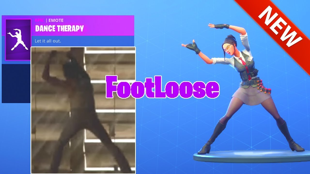 new footloose dance therapy emote item shop fortnite battle royale - dance therapy fortnite song