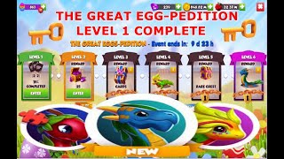 The Great Eggs Pedition Event-Dragon Mania legends | Level 1 Complete | Hero Challenge event