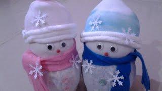 DIY Socks Snowman
