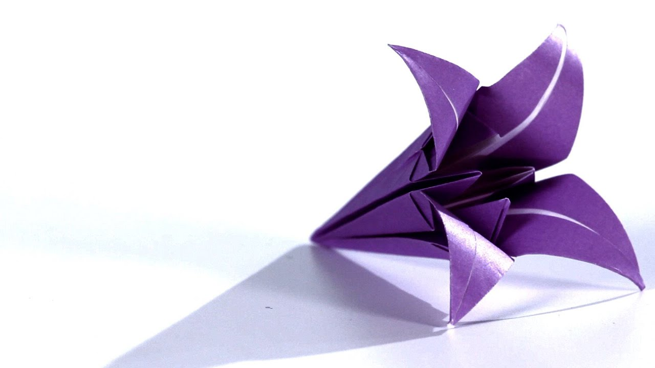 How To Make A Lily Origami Youtube