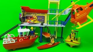 Feuerwehrmann Sam RettungsStation Fireman Sam Ocean Rescue Centre SIMBA Toy Unboxing
