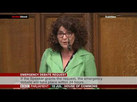 House of Commons : Emergency Debate request - Diana Johnson MP - 10th July 2017