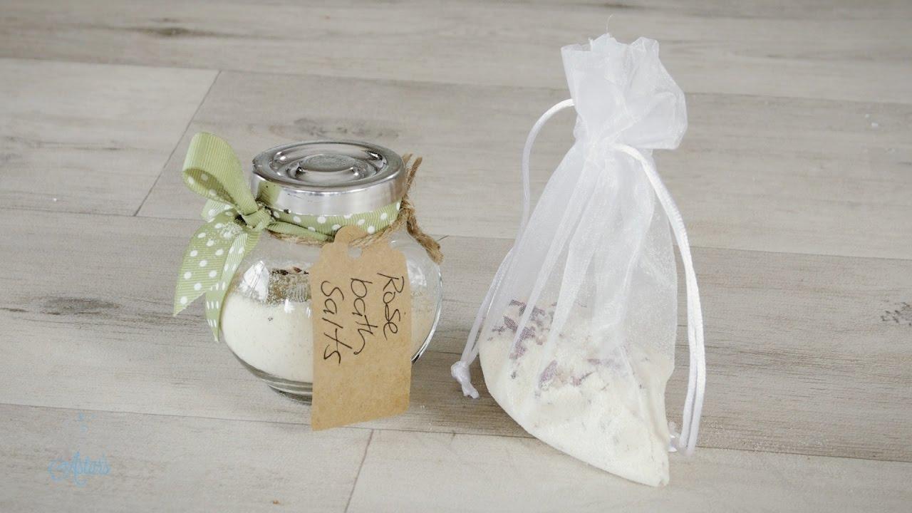 How to make Milk & Rose Petal Bath Bags - YouTube