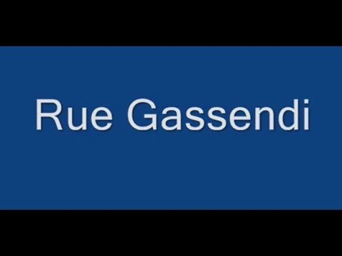 Rue Gassendi Paris Arrondissement  14e