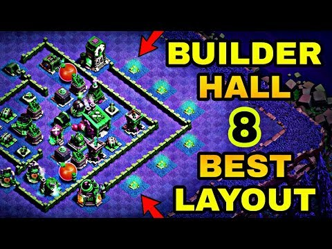 BUILDER HALL 8 BEST BASE LAYOUT WITH REPLAY | BEST BH 8 BASE DESIGN IN COC | CLASH OF CLANS
