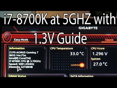 I7-8700K 5GHZ on a Aorus Gaming 7 Benchmark with a GTX 1080TI