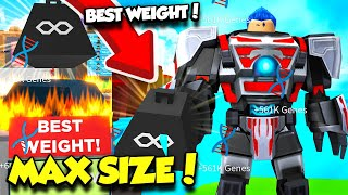 I BOUGHT THE BEST WEIGHT AND BECAME MAX SIZE IN FITNESS SIMULATOR! *INSANE* (Roblox)