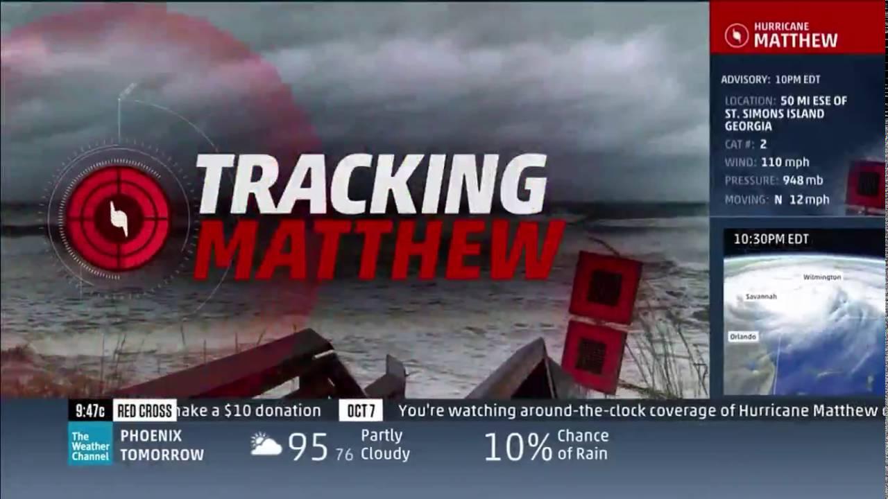 tracking hurricane matthew  weather channel