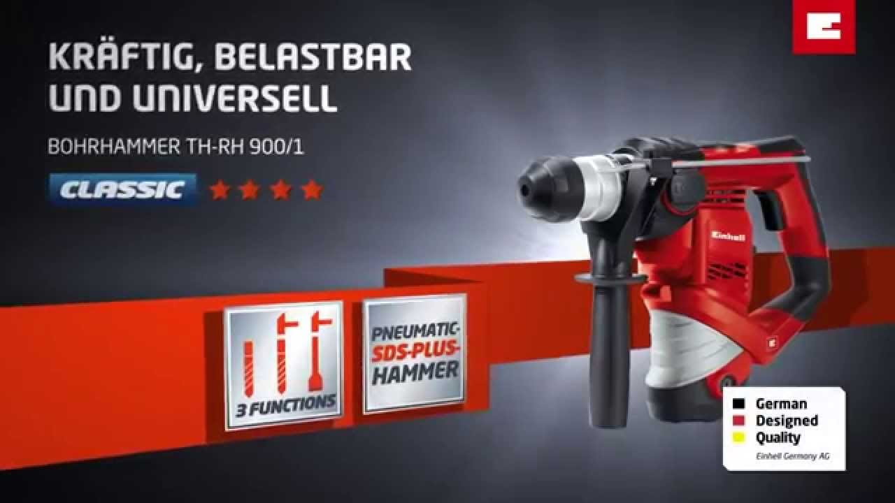 einhell th-rh 900/1 bohrhammer - youtube