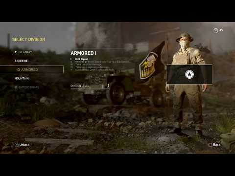 "SURVIVE LONGER! ALL ""ARMORED DIVISION"" PERKS EXPLAINED COD WW2 BETA LEVEL UP ""ARMORED"" DIVISION FAST"