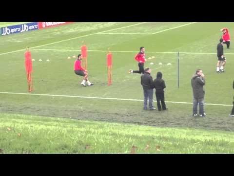 Welsh team training
