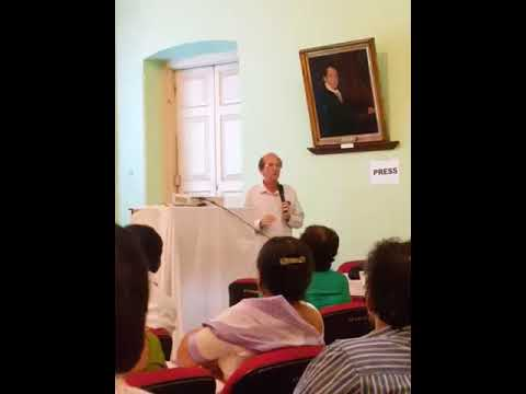 Michel Danino delivering his lecture on river Sarasvati at Asiatic Society (Kolkata) on 12-10-17