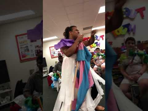 Condom drag show