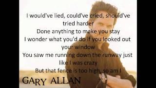 Gary Allan - Watching Airplanes(With Lyrics)