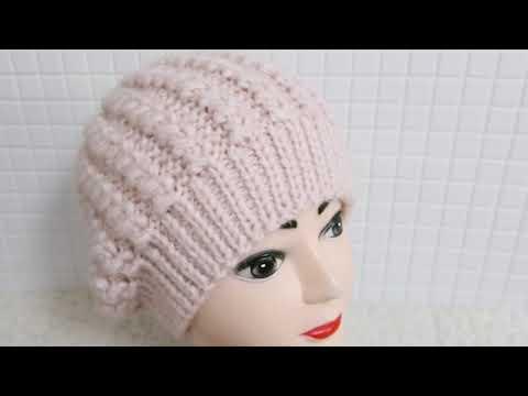 Вязание шапка женская спицами