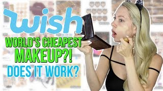 Full Face Using UNDER $1 Makeup from Wish!