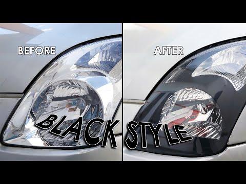 Cara Mudah Custom Headlamp Mobil - Black Style