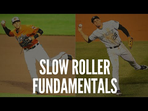 Baseball Fielding Fundamentals - Slow Roller Ground Balls!