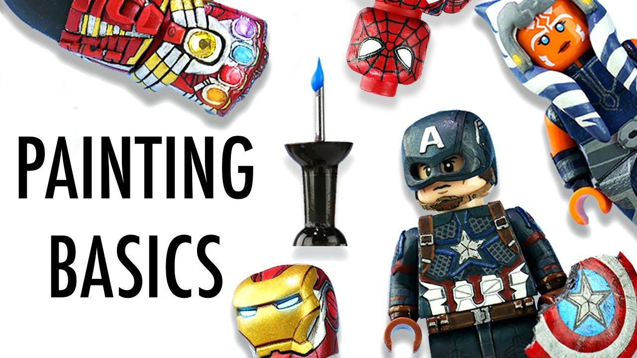 How To Make Custom LEGO Minifigs - Painting Basics EP1