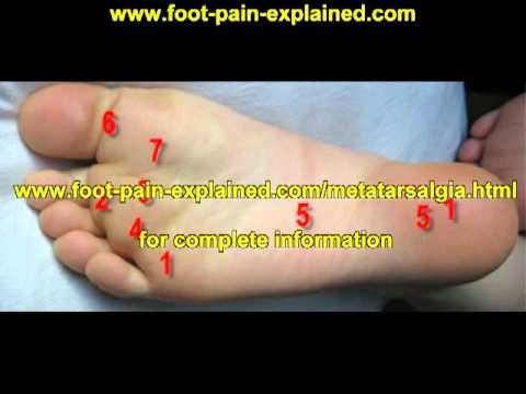 Pain in bottom of left foot