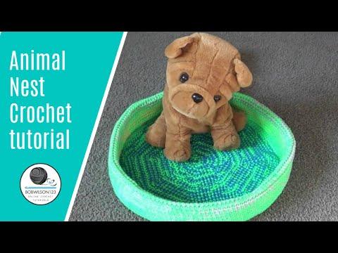 Animal Nest/ Pet Bed Crochet Tutorial