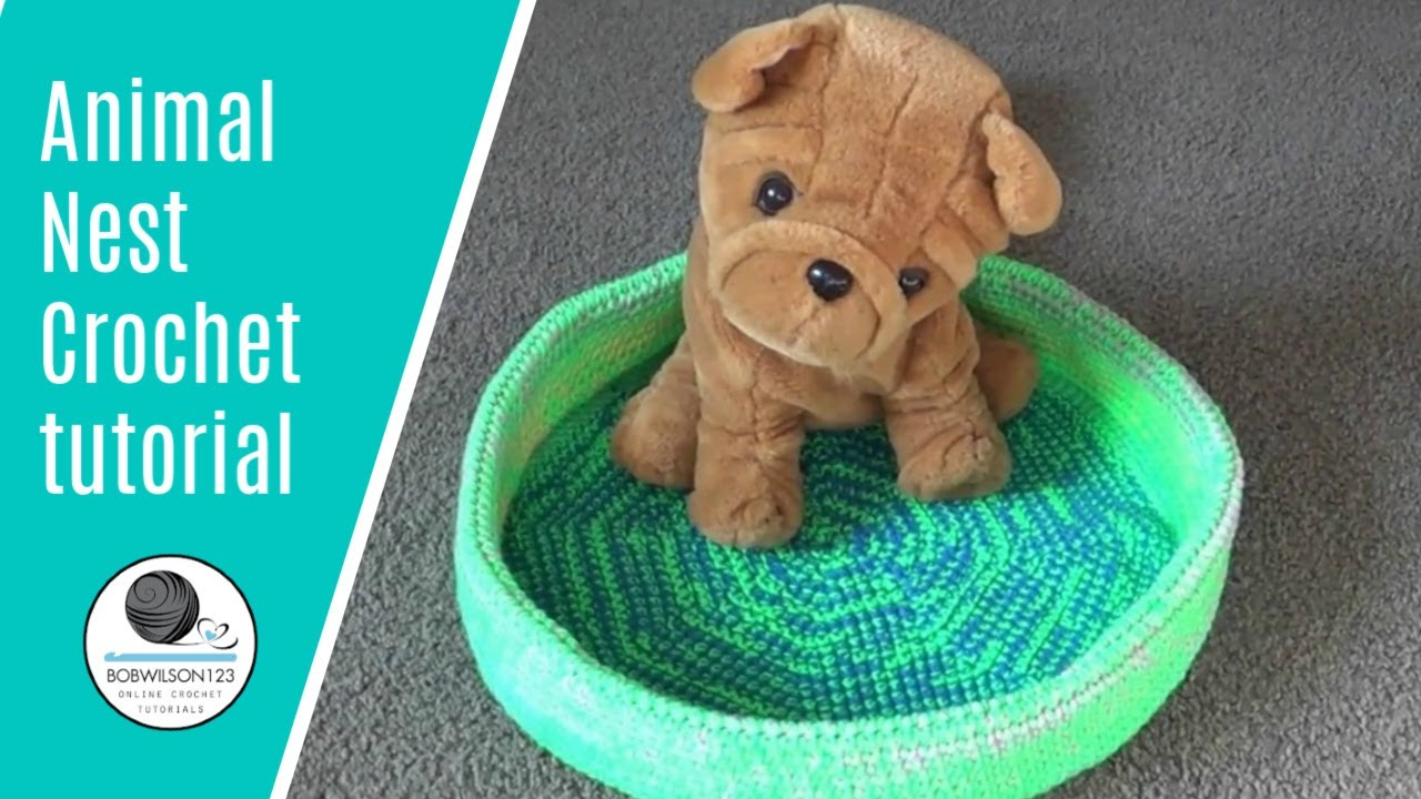 Pet bed crochet tutorial - YouTube