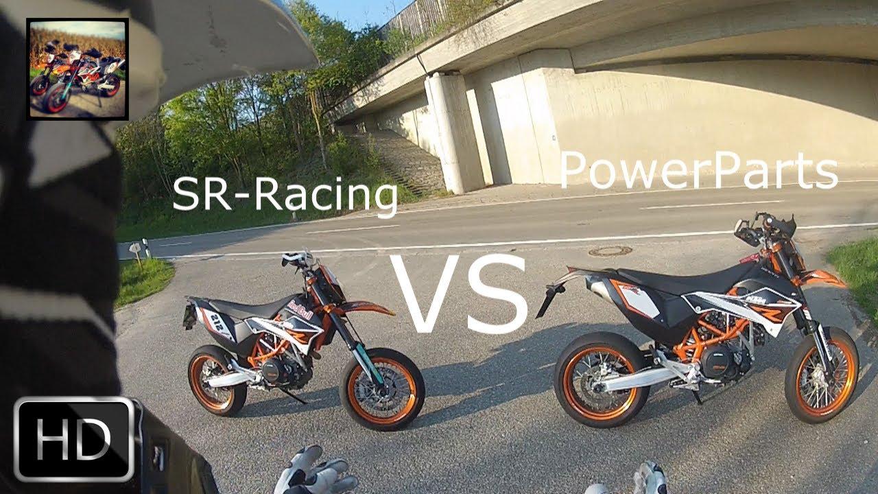 powerparts vs sr racing tunnel action ktm 690 smc r. Black Bedroom Furniture Sets. Home Design Ideas