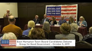2019 East Hampton Town Board Candidates Debate