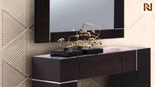 Hampton Dark Wenge Wall Console With Mirror Vgkchampton-wenge From Vig Furniture