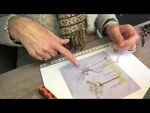 Het Franse knoopje borduren 1