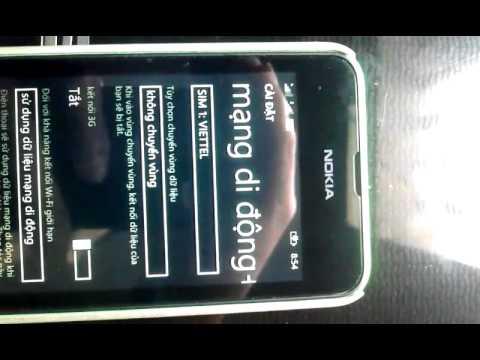 cách hack 3g viettel cho windows phone - Hách băng thông cho viettel windowsphone 8.1 2 sim