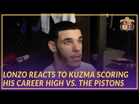 Lakers Post Game: Lonzo Ball Reacts To Kyle Kuzma Scoring Career High 41 Against the Pistons