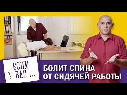 Болит спина от сидячей работы? Упражнения для спины в офисе 0+