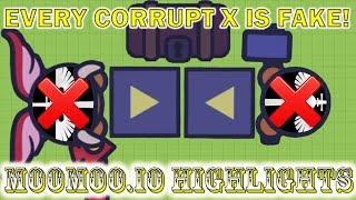 Moomoo.io - Every Corrupt X is Fake (Moomoo.io Highlights)
