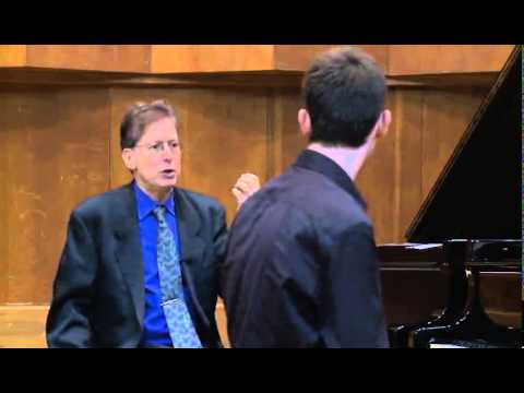 Masterclass with Robert Levin (Yishai Rubin, piano)