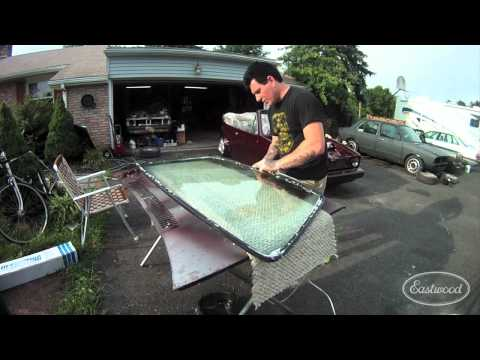 Installing a Press In Windshield Seal and Chrome - Installation Process - Eastwood - Part 1 of 2