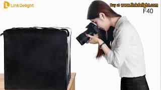 Travor F40 40cm/ F60 60*60*60cm LED Portable Folding Light box Softbox - Linkdelight.com