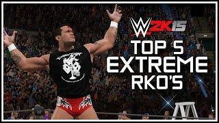 WWE 2K15 - Top 5 EXTREME RKO's By Randy Orton! | PS4/XB1 (WWE 2K15 Countdown)