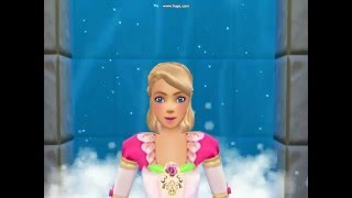 Barbie fairytale 12 Dancing Princess Part with musical waterfall