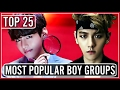 top 25 most popular kpop boy groups on youtube