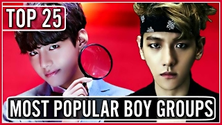 |TOP 25| MOST POPULAR KPOP BOY GROUPS ON YOUTUBE