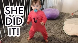 Our Baby Girl Addisen Stands Up On Her Own For The First Time!  !!!  /// McHusbands