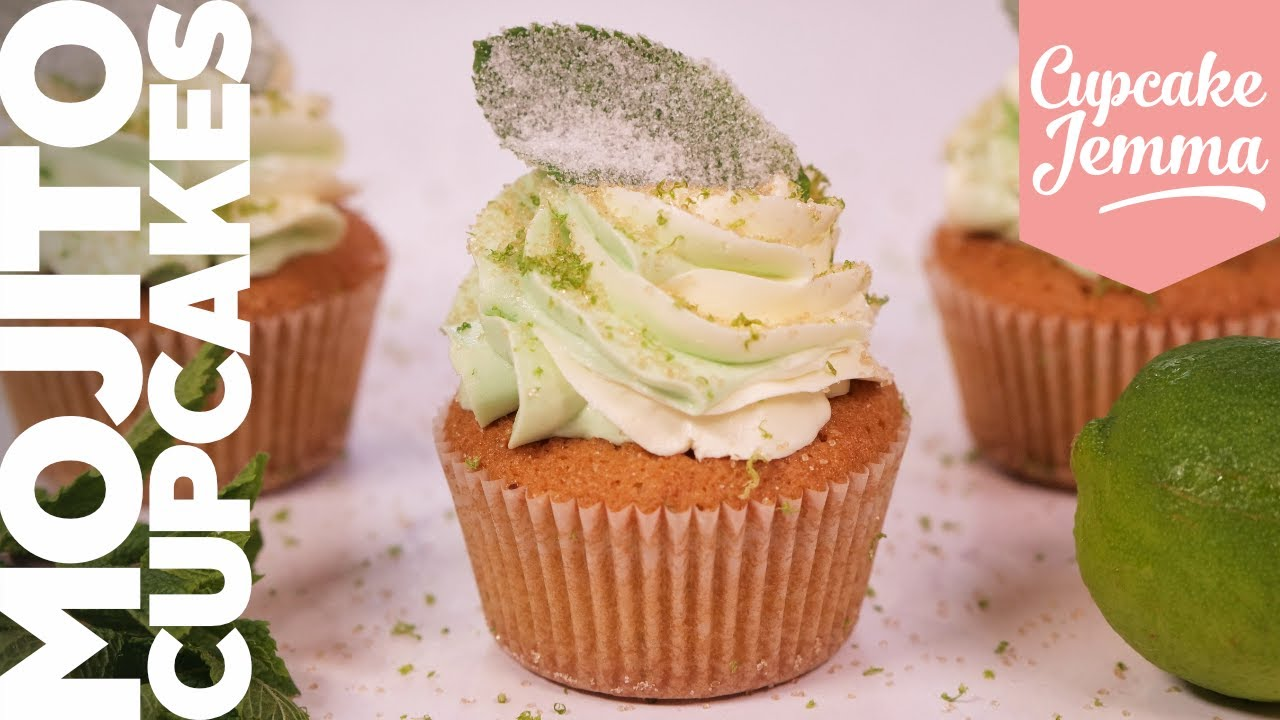 It's Time for Mojitos! Mojito Cupcakes Recipe! Fresh, Zingy and Boozy! | Cupcake Jemma Channel