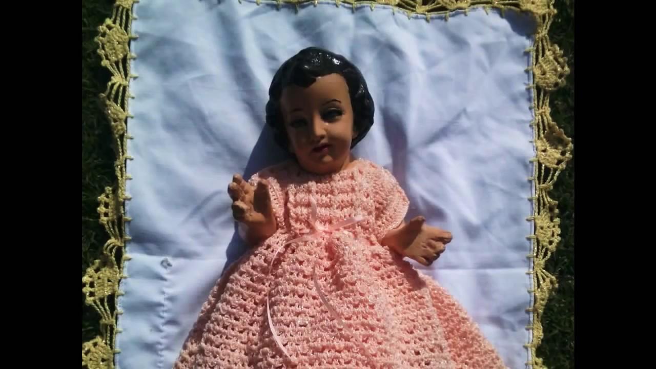 Vestido De Niño Dios Tejido A Crochet